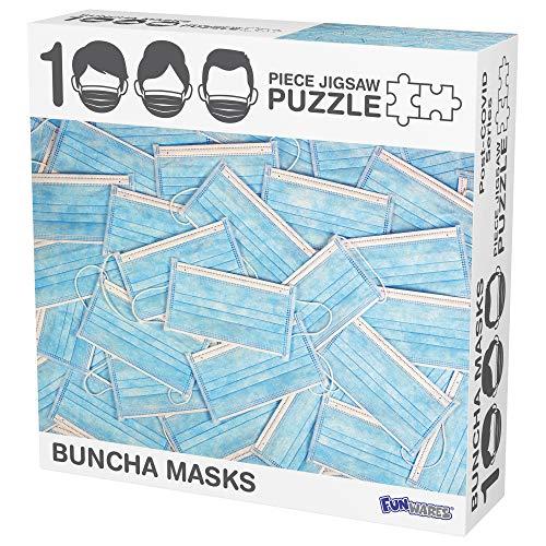 Funwares Buncha Face Masks-1000 Piece Jigsaw Puzzle