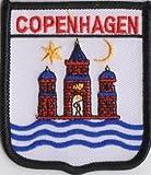 Kopenhagen Dänemark-Flagge, bestickter Aufnäher