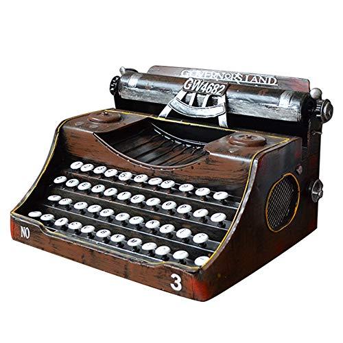 HLGQ Kreative Weinlese-Metall-Retro-Schreibmaschine Modell, Vintage Zuhause-Bar Dekoration Ornament Sammlung Geburtstag, Weihnachten