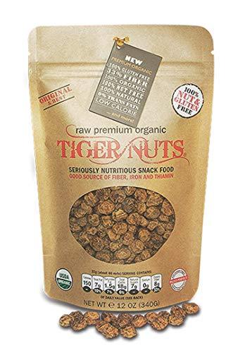 Premium Organic Tiger Nuts (12 oz)| High Fiber, Gluten Free, Non-GMO
