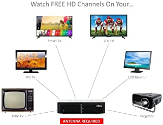 eXuby Digital Converter Box for TV for Recording and Viewing Full HD Digital Channels Free (Instant or Scheduled Reco...