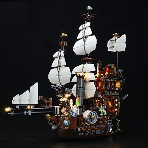 Kit De Iluminación Led para Lego Iron Beards Sea Cow, Compatible con Ladrillos De Construcción Lego Modelo 70810 (NO Incluido En El Modelo)