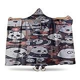 Blanket Throw for Adults We Bare Bears pan.da Cute.jpg Family Fluffy Blanket Hoodie