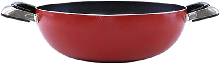 Royalford RF324 Stainless Steel Work Pan, Red