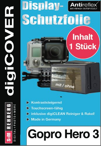 DigiCover N3496 Bildschirmschutzfolie Klare Bildschirmschutzfolie Kamera GoPro 1 Stück(e) - Bildschirmschutzfolien (Klare Bildschirmschutzfolie, Kamera, GoPro, Hero 3, Kratzresistent, Transparent)