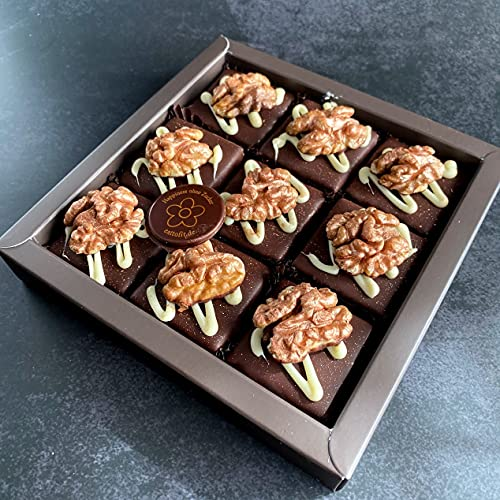 Eat to Fit Walnüsse Schokoladen Fudges ohne Zucker Zuckerfreie Ernährung Box 9er diabetiker Schokolade