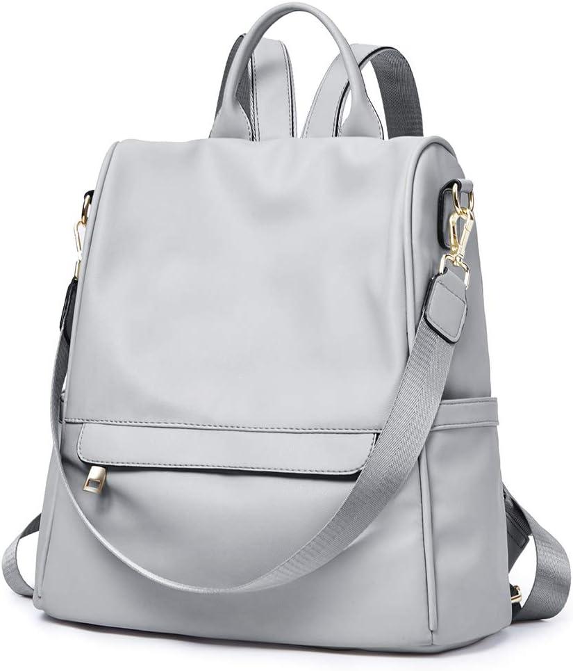 CLUCI Womens Backpack Purse Fashion Leather Ladies Travel Bags Medium Designer Convertible Shoulder School Bookbag Grey