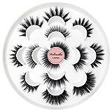 Veleasha Eyelashes 7 Styles Faux Mink Lashes for Makeup Handmade Soft Thick Lashes Reusable Black Color Fluffy Mixed 5D False Eyelashes | Mixed …