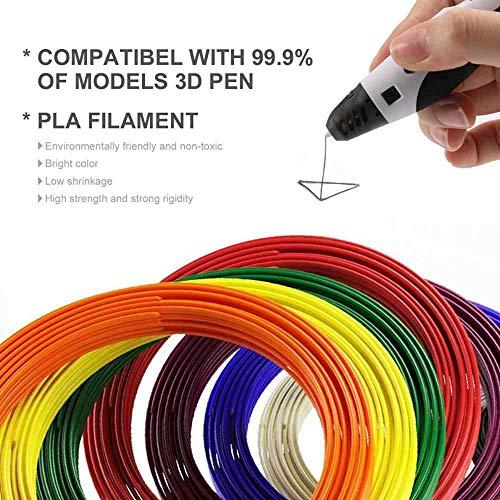 3D Stift Filament PLA, 20 Farben, je 10M – 3D Pen PLA Filament 1,75mm, 3D Stift Farben Set für ODRVM, Tecboss, Lovebay, 3D Stift and 3D Druck Stift - 2
