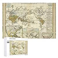 INOV 病気 世界地図 ジグソーパズル 木製パズル 1000ピース インテリア 集中力 75cm*50cm 楽しい ギフト プレゼント
