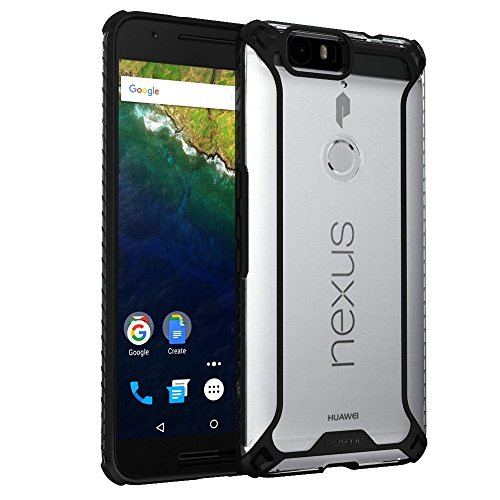 Nexus 6P Case, POETIC Affinity Series Premium Thin/No Bulk/Protection Where its Needed/Clear/Dual Material Protective Bumper Case for Huawei Nexus 6P (2015) Black/Clear