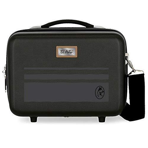 El Potro Chic Neceser Adaptable Negro 29x21x15 cms Rígida ABS 9,14L