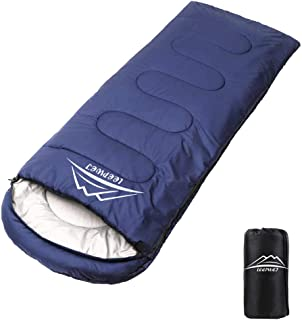 LEEPWEI[最新版]寝袋 封筒型 軽量 保温 210T防水シュラフ コンパクト アウトドア キャンプ 登山 車中泊 防災用 丸洗い可能 快適温度-5℃-25℃ 900g 1.4kg 1.8kg 春夏秋冬の使用可能