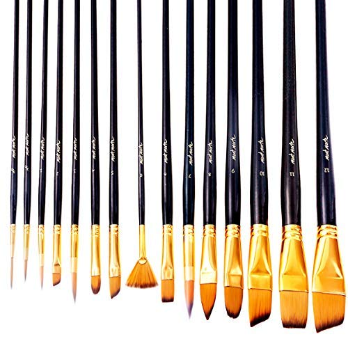 Mont Marte Art Paint Brushes Set, Great for Watercolor, Acrylic, Oil...