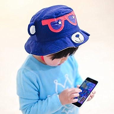 Jixin4you Kids Summer Cotton Bucket Cap Children Sun Hat Sunhat H07