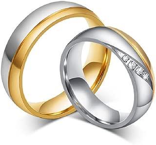 Los Nuevos Anillos Amante De Oro De Titanio Anillos De Bodas Anillos De Compromiso En Venta Cr-035 (6, women)