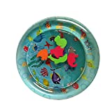 Goolsky 50cm Diameter Baby Colorful Inflatable Water Play Mat Tummy Time Infant Fun Mat Child Development Play Center with Hand Inflator Pump