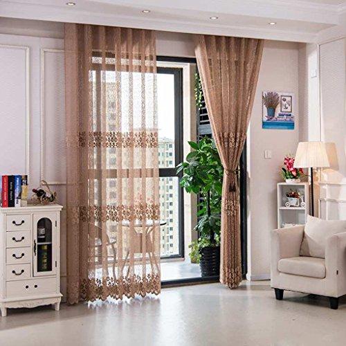 Met Love Les écrans de Jacquard de haute qualité creuse les panneaux respirables de gaze de balcon de salon 2 (Couleur : C, taille : L:1.5*H:2.7m)