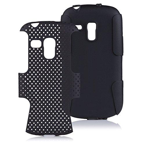 iCues Samsung Galaxy S3 MINI | 2 Part Air Hülle Schwarz | [Bildschirm Schutzfolie Inklusive] Outdoor Dickes Hardcase Stoßfest Militär Lifeproof Männer Jungs Schutzhülle Hülle Cover Schutz