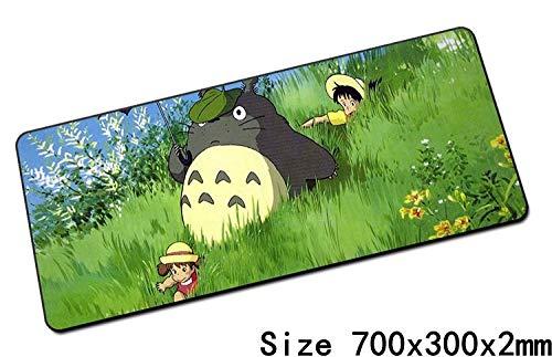 GGGBO Totoro muismat, 70 x 30 cm, computeronderlegger, het beste muismat voor games en spelers, toetsenbord