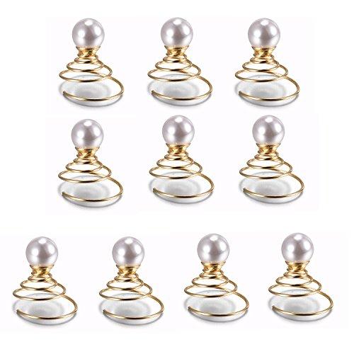 tinxi® 10 x Perline artificiali 8mm per capelli perle imitazione, forcine sposa, forcine capelli, accessori per capelli, accessori per sposa-colore bianco