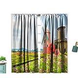 Zitenious - Molino de viento sólido para barra de cortina, eficiencia energética para sala de estar, dormitorio, 72 x 84 cm