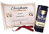 Regalo originale divertente -Certificato scherzo Attestato da personalizzare - regali per la festa del papa - festa compleanno anniversario laurea diploma adatto anche come scherzo divertente
