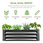 Best Choice Products 4x3x1ft Outdoor Metal Raised Garden Bed Box Vegetable Planter for Growing Fresh Veggies, Flowers… 12 EASY ASSEMBLY: Beveled edges can easily be screwed to the sides using a Phillips screwdriver and the included wingnuts and screws so it's ready in no time BUILT TO LAST: Made of powder-coated steel plates, with a rust-resistant finish to keep your garden bed looking its best for years to come OPEN-BOTTOM GARDEN BED: Built with an open base to prevent water buildup and rot, while allowing roots easy access to nutrients