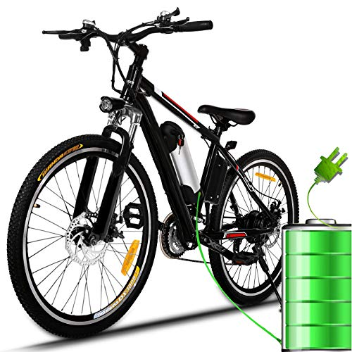 Bunao Bicicletta Elettrica City Bike Pieghevole a Pedalata Assistita, Ruote 26'', velocità 25km/h, 36V 8AH (Ruote 26'')
