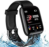 Smart Watch in HD Touch Screen,Smart Wristband,1.3 Inch Fitness Tracker with Monitor, Sleep Tracker, Step Counter, Stopwatch, IP67 Waterproof Fitness Watch Works with iOS/Android for Men/Women