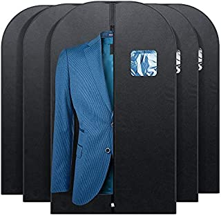 """Fu Global Garment Bag Covers for Luggage, Dresses, Linens, Storage or Travel 42"""" Suit Bag with Clear Window Pack of 5"""