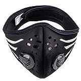 Anti-Polvo Máscara Protectora Smog Face Mask Filtro de polvo Cubierta Máscaras de Correr Ciclismo MFAZ Morefaz Ltd (Stripes Black White)