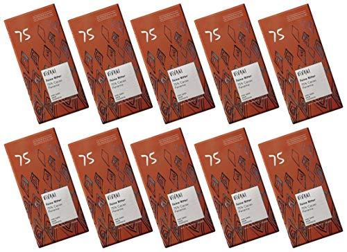 ViVANI エキストラダークチョコレート 75% 80g×10個 ★ コンパクト ★ 有機JAS ★ 有機カカオ75% ★ 砂糖不使用・有機ココナッツシュガー使用★砂糖・乳製品・乳化剤不使用 濃厚なカカオの風味とやさしい甘み