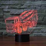 7 colores cambiantes luz de noche 3D LED licuadora mesa de coche lámpara de escritorio mesa de noche para niños mezclador de sueño camión iluminaciones regalos de Navidad decoración