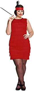 ee610289ee384 Blue Banana Flapper Girl Costume Robe Charleston Années 30 - Grande Taille ( Rouge)
