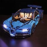 Vonado Led Light Set for 42083 Compatible 20086 Bugatti Chiron Race Car Toys (Lights Only)
