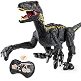 mixi Toys for 3 4 5 6 7 8 Year Old Boys, Remote Control Dinosaur Toys for Kids 3-5 5-7, Walking Velociraptor Electronic Boys Toys with Lights and Sounds, Birthday Gifts for Boys Girls