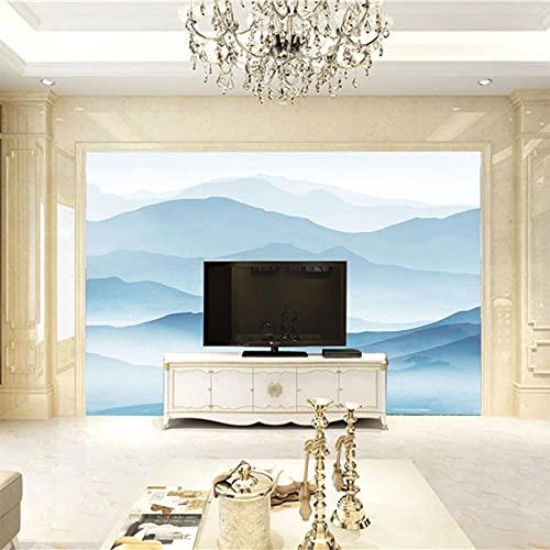 MHJAIE Fotomurales Decorativos Pared Montañas Azul Paisaje 200X100Cm Pegatinas De Vinilos Para Sala Habitación Dormitorio Decorativos