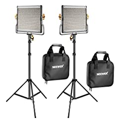 Note: Dimensions of LED Light: 10x10.4x1.9 inches/26x26.5x5 centimeters Kit Includes: (2)Bi-color LED Video Light with U Bracket, (2)White Diffuser, (2)Power Adapter, (2)Power Cable, (2)Carrying Case (2) 26inches/66centimeters-75inches/190centimeters...