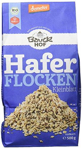 Bauckhof Haferflocken Kleinblatt Demeter, 1er Pack (1 x 500 g)