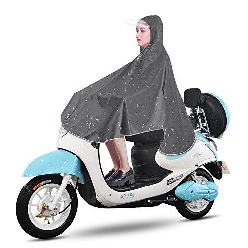 Gobesty Poncho de lluvia, chubasquero impermeable, unisex, multifuncional, con capucha, plegable, para bicicleta, senderismo, camping, conciertos, vacaciones o festivales