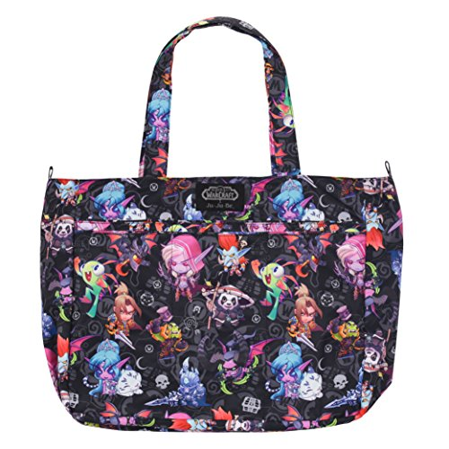 JuJuBe Super Be Large Everyday Lightweight Zippered Tote Bag, World of Warcraft Collection - Cute But Deadly