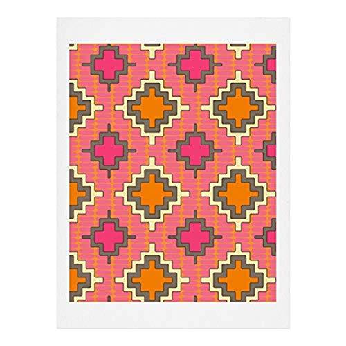 Deny Designs Kunstdruck, 100 % Baumwollfaser-Papier, Pink, 20,3 x 25,4 cm