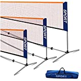 Ulalov Badminton Set, 17FT Badminton Net Set Adjustable Height for Volleyball Soccer Tennis Pickleball Indoor or Outdoor Court, Backyard, Beach, Driveway