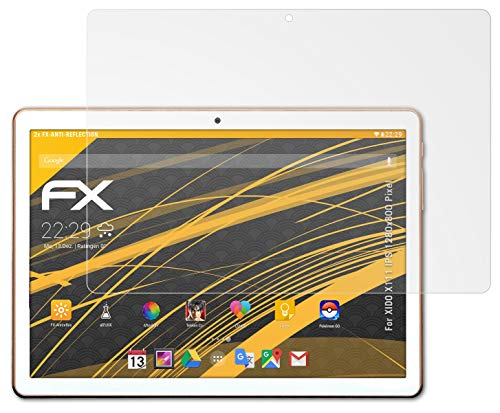 atFolix Panzerfolie kompatibel mit XIDO X111 IPS 1280x800 Pixel Schutzfolie, entspiegelnde & stoßdämpfende FX Folie (2X)