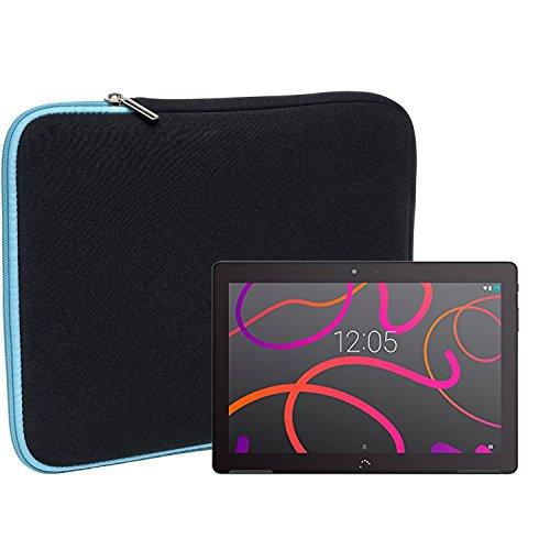 Slabo Tablet Tasche Schutzhülle für BQ Aquaris M10 Hülle Etui Hülle Phablet aus Neopren – TÜRKIS/SCHWARZ