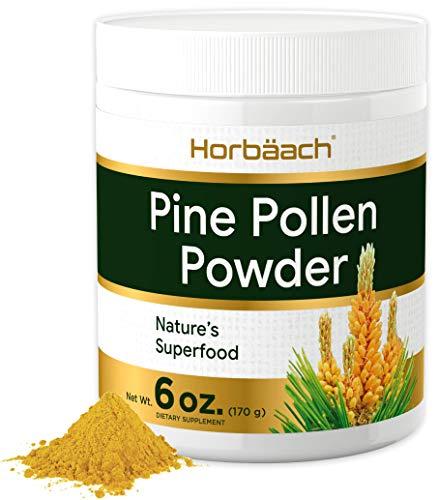 Pine Pollen Powder Extract | 6 oz (170 g) | Nature's Superfood | Non-GMO, Vegetarian, Gluten Free Supplement | by Horbaach