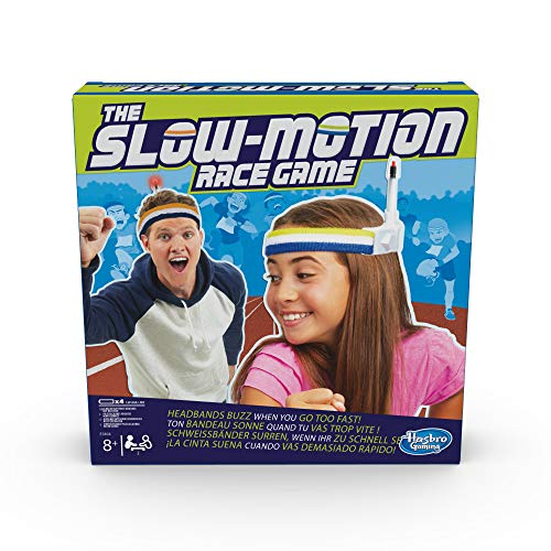 Hasbro Gaming E5804EU4 The Slow Motion Race Game, Partyspiel, mit Langsamkeit zum Sieg, Multicolor