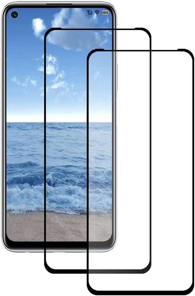 واقي شاشة TenDll لهاتف Samsung Galaxy F12 ، واقي شاشة زجاجي شفاف سهل التركيب من الزجاج المقوى 9H لهاتف Samsung Galaxy F12. أسود (عبوتان)