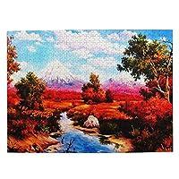 500ピース ジグソーパズル 高い山の景色 秋 紅葉 パズル 木製パズル 動物 風景 絵 ピクチュアパズル Puzzle 52.2x38.5cm